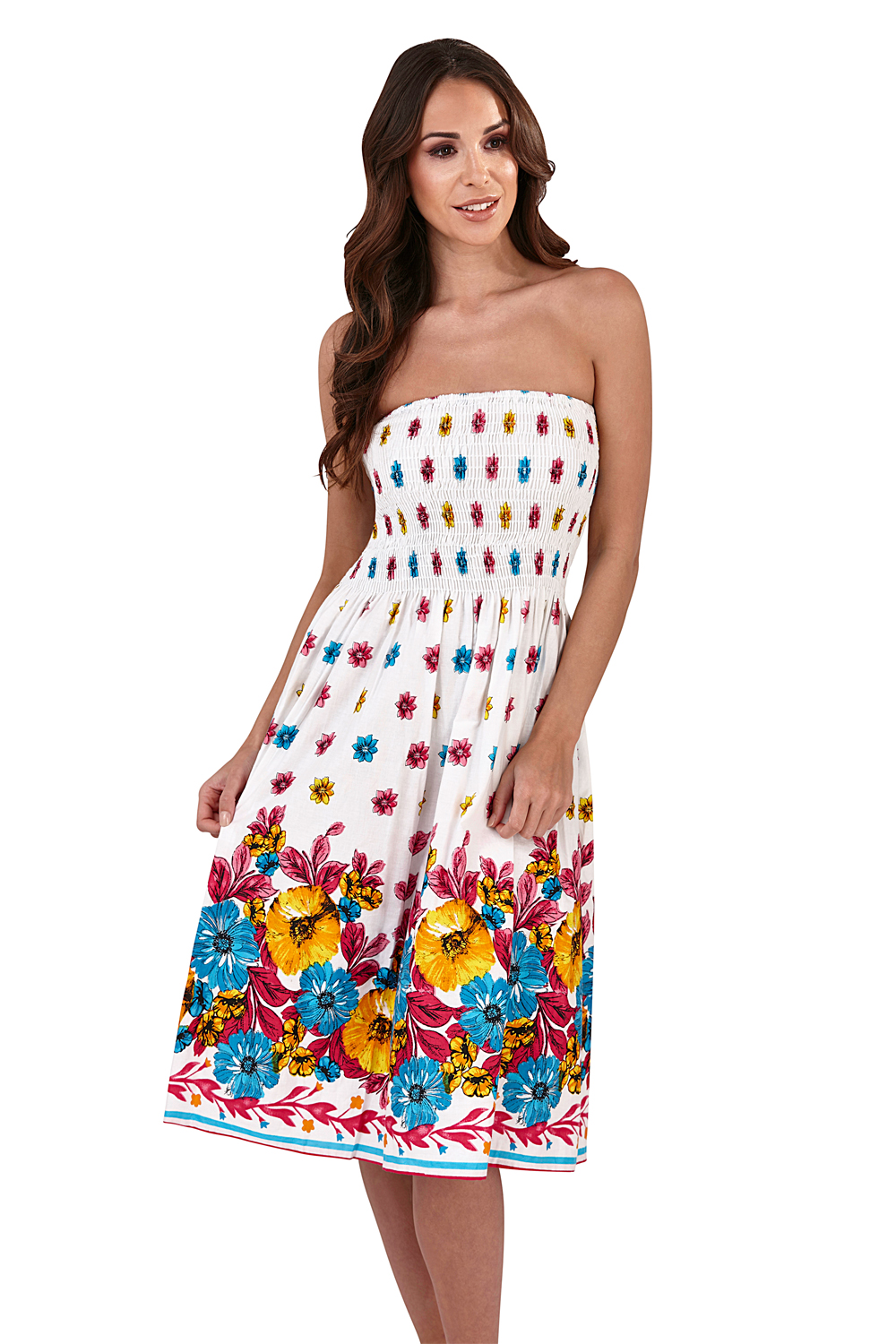 Pistachio-Womens-Patterned-3-In-1-Dresses-Ladies-New-Cotton-Summer-Beach-Skirts thumbnail 5