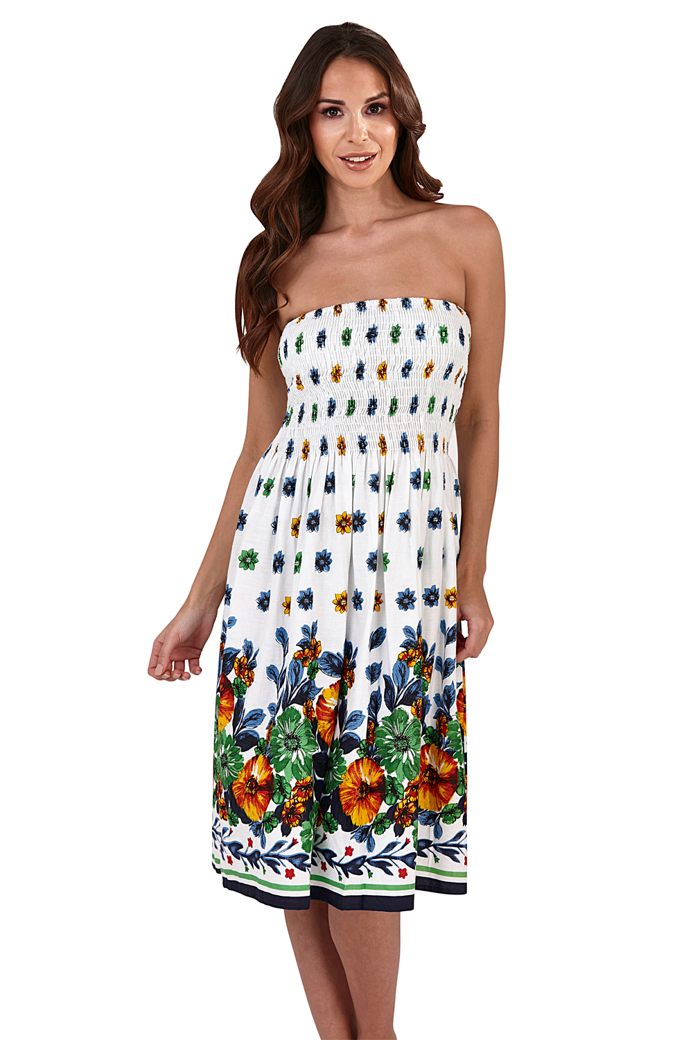 Pistachio-Womens-Patterned-3-In-1-Dresses-Ladies-New-Cotton-Summer-Beach-Skirts thumbnail 10