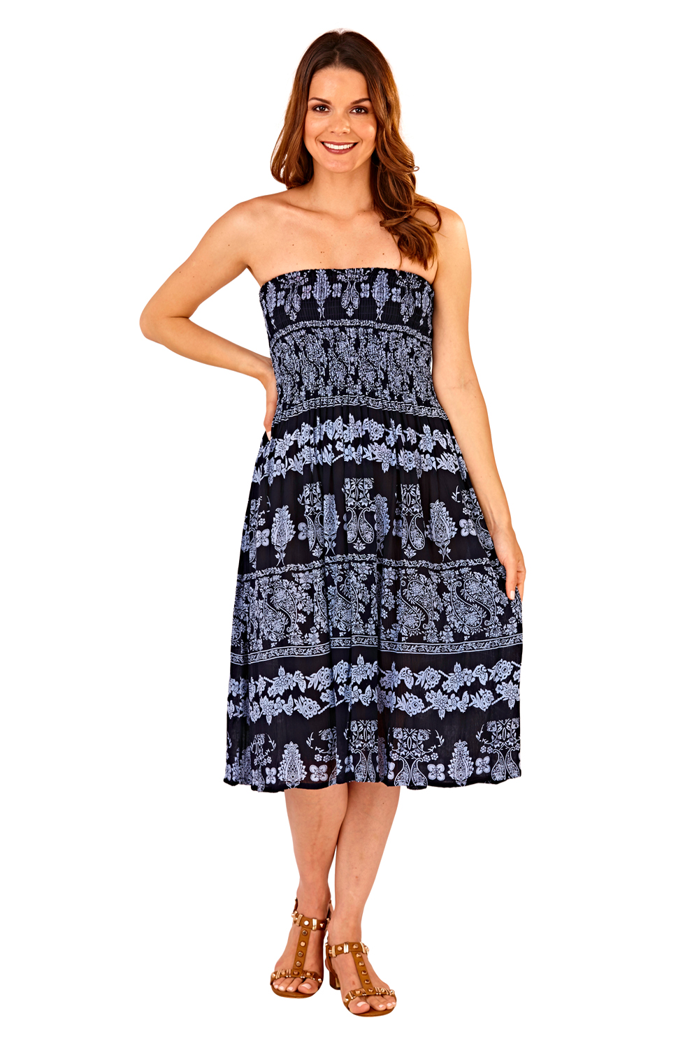 Pistachio-Womens-Patterned-3-In-1-Dresses-Ladies-New-Cotton-Summer-Beach-Skirts thumbnail 13