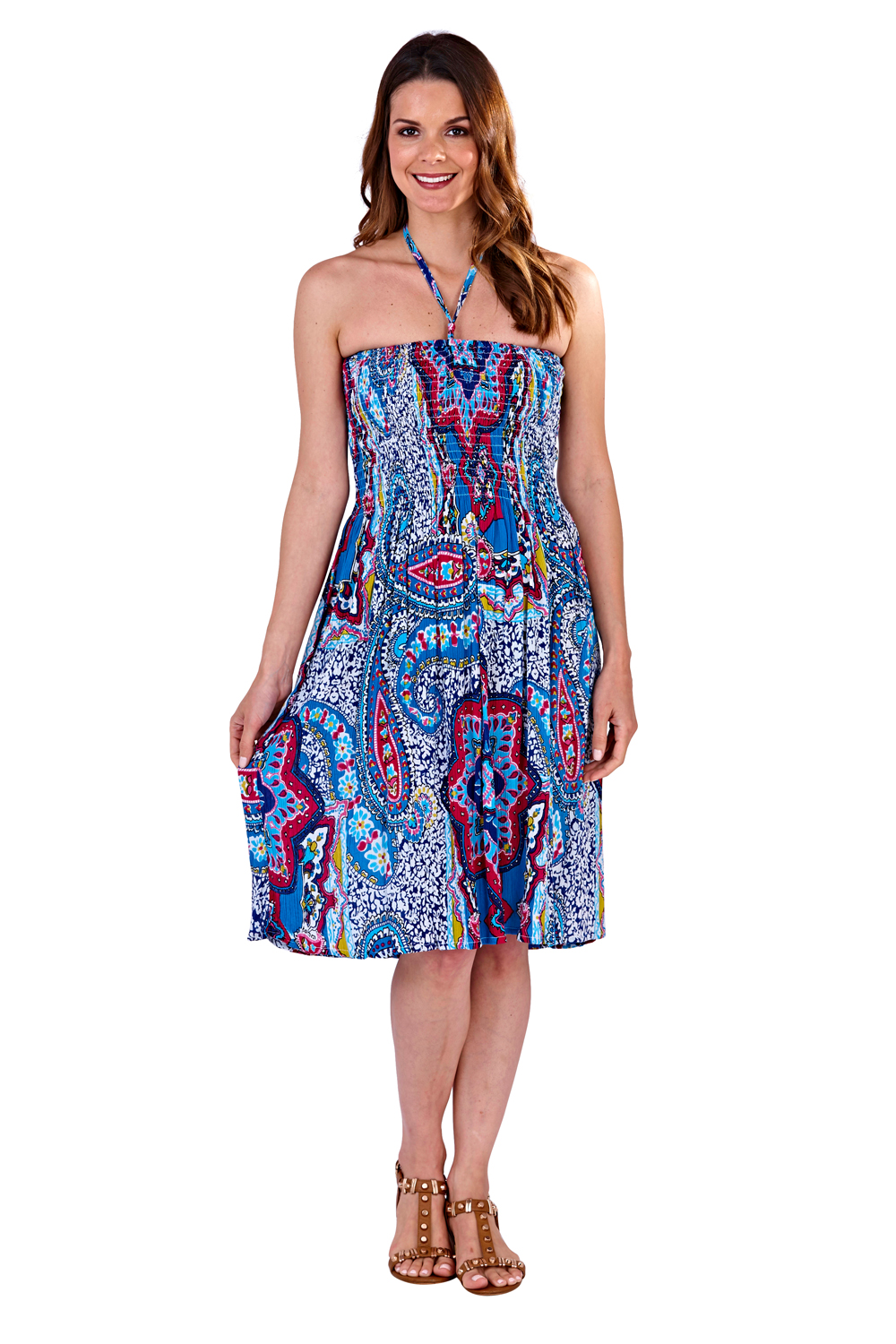 Pistachio-Womens-Patterned-3-In-1-Dresses-Ladies-New-Cotton-Summer-Beach-Skirts thumbnail 16