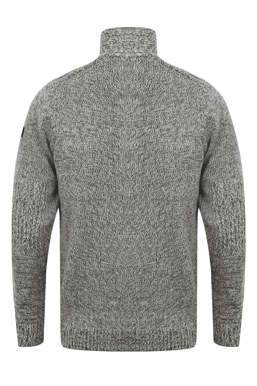 Dissident Mens Designer Nitro Jumper Chunky Cable Knit Funnel Neck Pullover Top