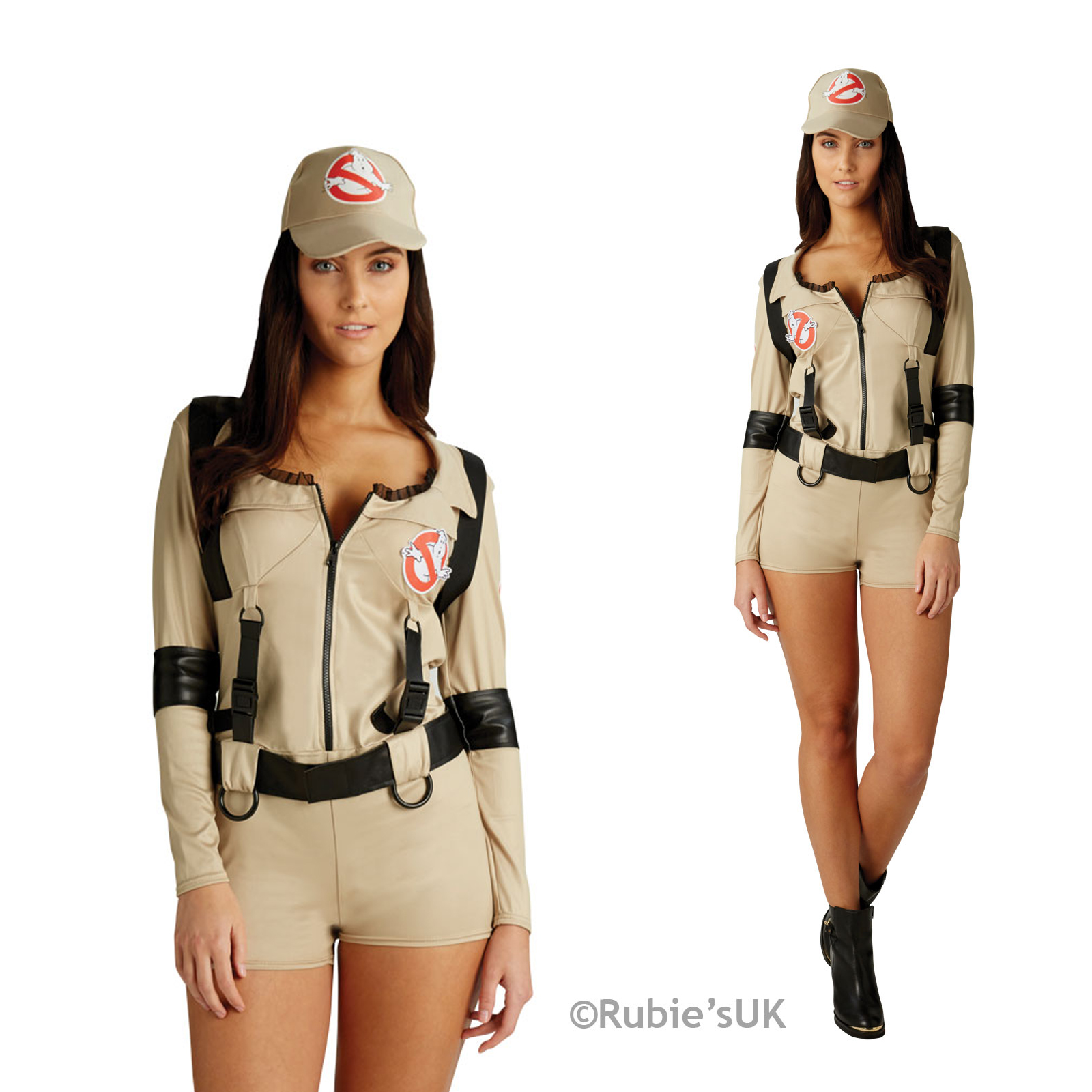 rubies damen ghostbusters shorts damen sexy kost m kleid outfit ebay. Black Bedroom Furniture Sets. Home Design Ideas
