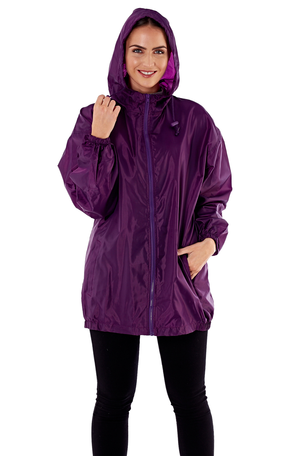 ProClimate Womens Ladies New Waterproof Lightweight Hooded Jacket In A Bag