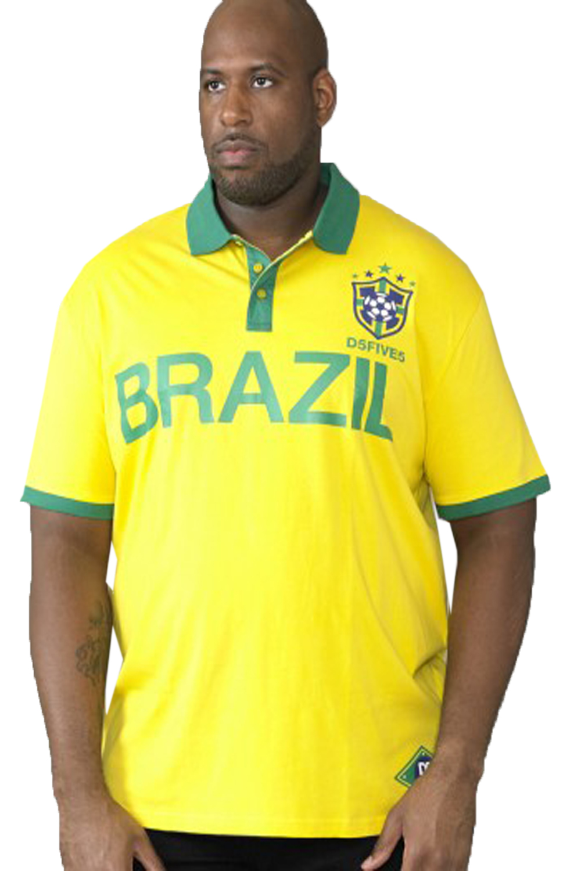 RICARDO D555 Mens Brazil Football T-Shirt