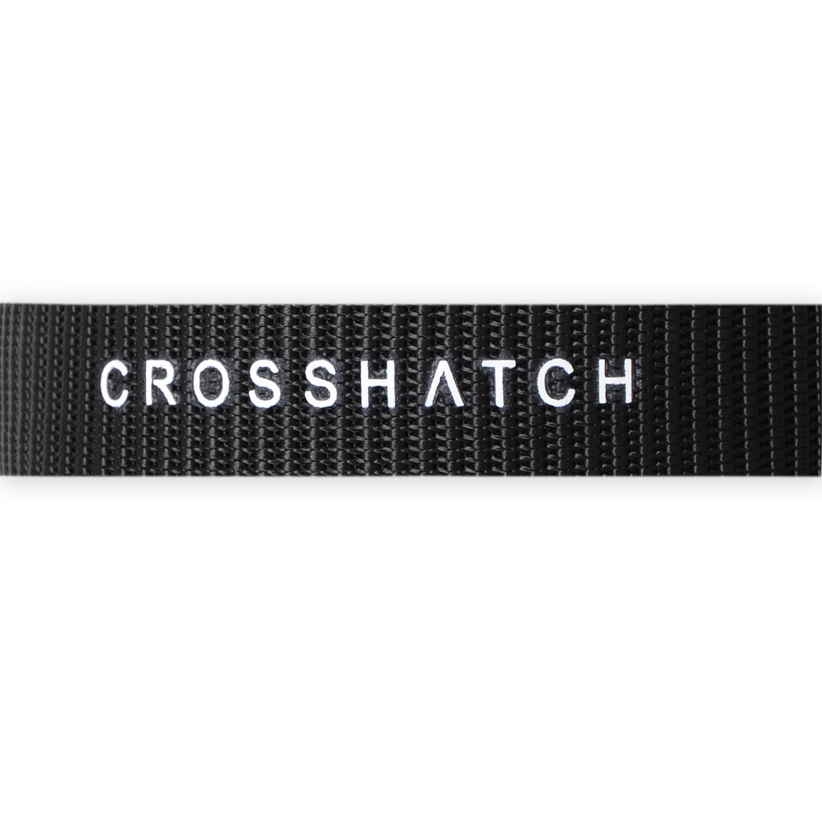 Crosshatch Mens Chucker Designer Branded Embossed PU Leather Metal Buckle Belt