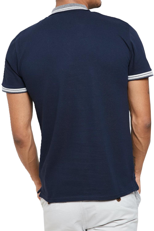Threadbare-Mens-Warsaw-Polo-Shirt-Designer-Collared-Contrast-Trim-Pique-T-Shirt thumbnail 5