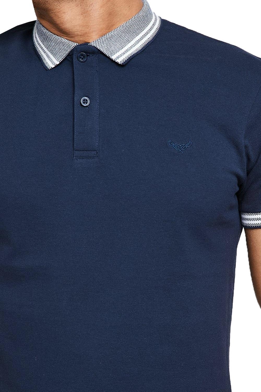 Threadbare-Mens-Warsaw-Polo-Shirt-Designer-Collared-Contrast-Trim-Pique-T-Shirt thumbnail 4