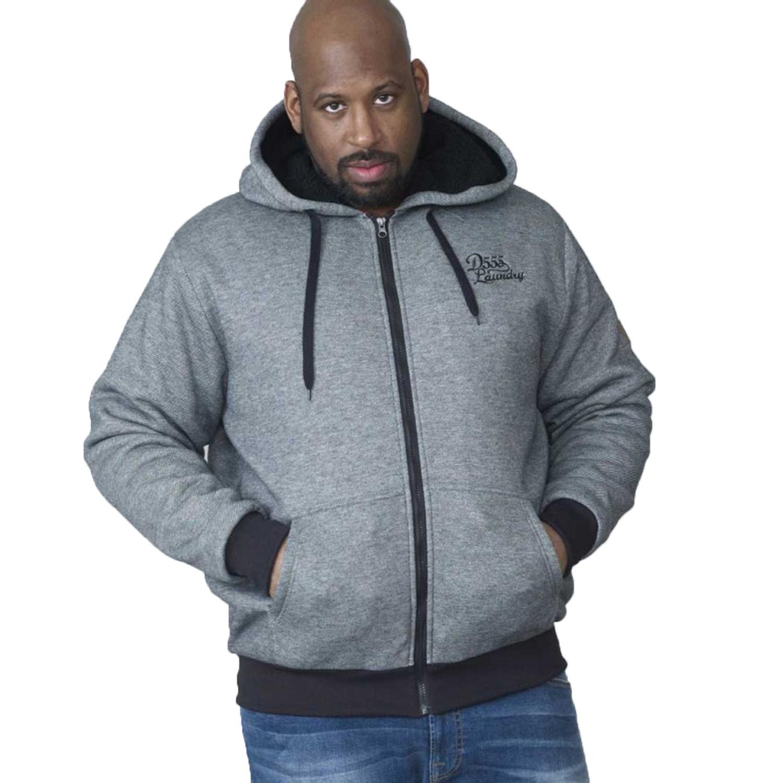 75f621a8d Duke D555 Mens King Size Zip Up Hoody Big Tall Hooded Fleece Lined ...
