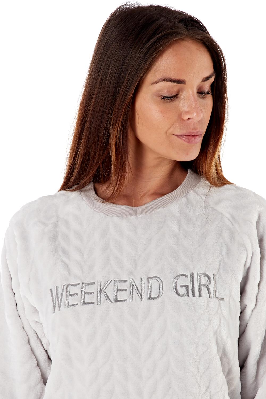 Femme-De-Luxe-Polaire-week-end-fille-twosie-Pyjama-Set-ou-a-Capuche-Robe-de-detente miniature 6