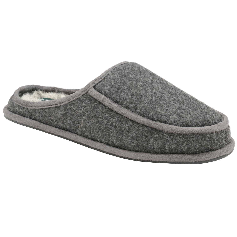 Dunlop Mens Alvin Mule Pantoufles Luxury Chaud Faux Fur Lined slip on Indoor shoes
