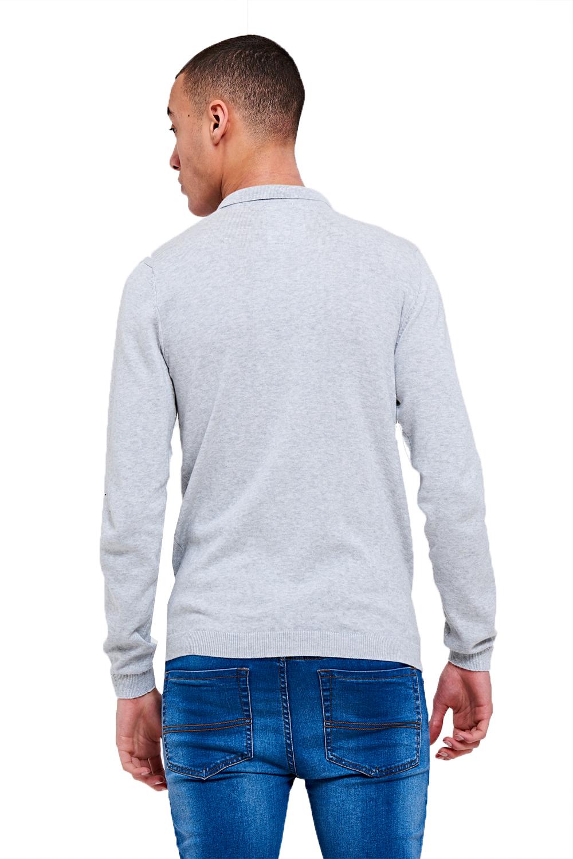 Threadbare-Mens-Designer-Ilkay-Or-Hart-Long-Sleeve-Knitted-Cotton-Polo-T-Shirt thumbnail 5