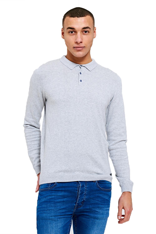 Threadbare-Mens-Designer-Ilkay-Or-Hart-Long-Sleeve-Knitted-Cotton-Polo-T-Shirt thumbnail 4