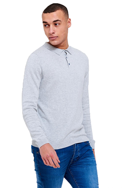 Threadbare-Mens-Designer-Ilkay-Or-Hart-Long-Sleeve-Knitted-Cotton-Polo-T-Shirt thumbnail 3
