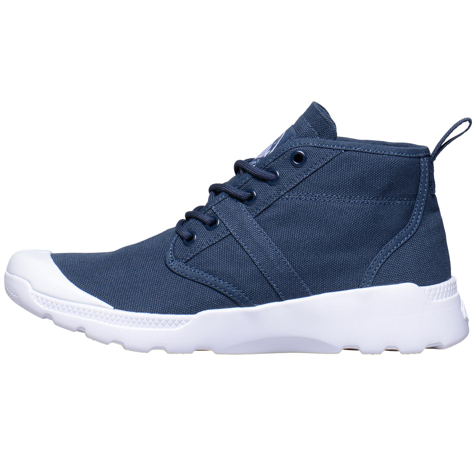 Palladium-Zapatos-para-hombre-de-disenador-Pallaville-Hi-Deux-Nueva-Lona-Botas-al-tobillo-con