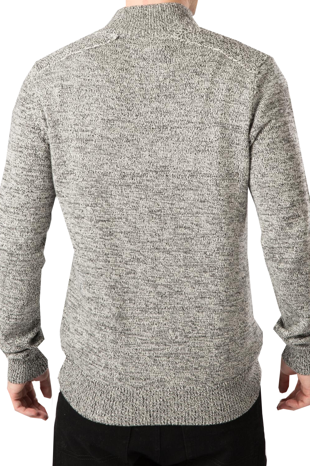 Threadbare Mens Jumper Moscow New Zip Up Neck Pullover Long Sleeved Sweater Top