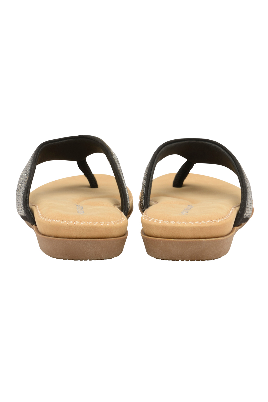 8 Mujer Sandalias Tallas Playa Negro Dunlop Greta Chanclas De 3 Gb LpGjUqSzVM