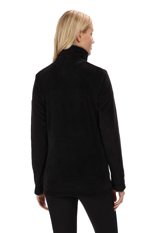 Regatta-Womens-Halona-Luxury-Soft-Velour-Fleece-Jacket-Zip-Up-Collared-Jumper thumbnail 4