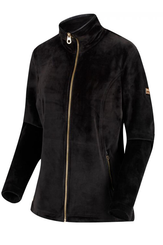 Regatta-Womens-Halona-Luxury-Soft-Velour-Fleece-Jacket-Zip-Up-Collared-Jumper thumbnail 5