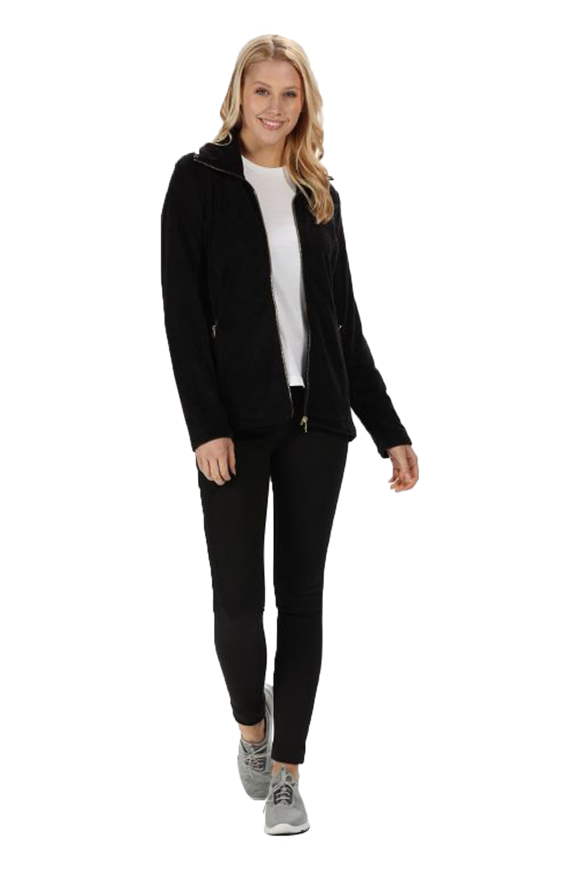 Regatta-Womens-Halona-Luxury-Soft-Velour-Fleece-Jacket-Zip-Up-Collared-Jumper thumbnail 3
