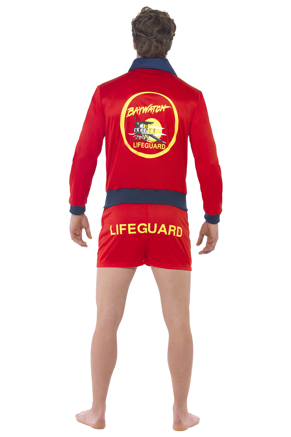 smiffys adults official licensed baywatch lifeguard or float fancy dress costume ebay. Black Bedroom Furniture Sets. Home Design Ideas