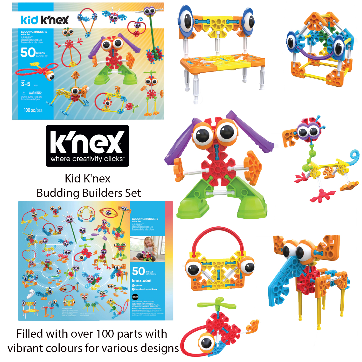 Kids K'nex Budding Builders Building Set Ages 3 ...