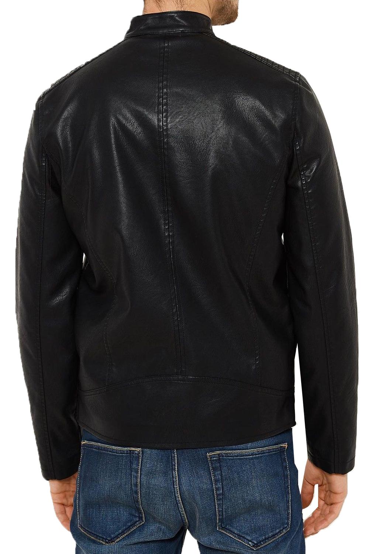 threadbare mens emporer biker zip up faux leather designer. Black Bedroom Furniture Sets. Home Design Ideas