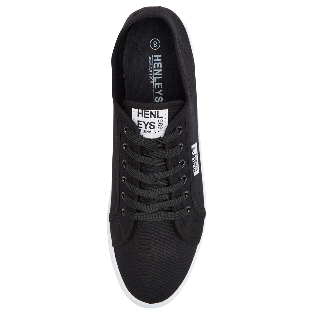 Henleys-Kenyon-Connor-Or-Milo-Mens-Canvas-Shoes-Lace-Up-Plimsole-Casual-Trainers thumbnail 4