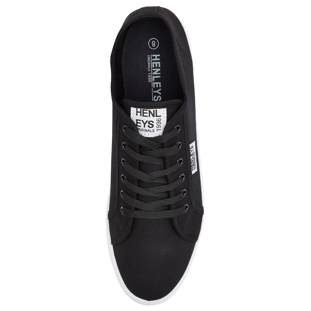 Henleys-Kenyon-Connor-Or-Milo-Mens-Canvas-Shoes-Lace-Up-Plimsole-Casual-Trainers thumbnail 22