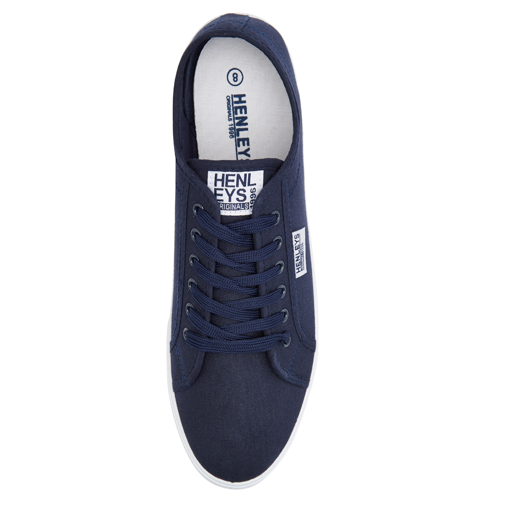Henleys-Kenyon-Connor-Or-Milo-Mens-Canvas-Shoes-Lace-Up-Plimsole-Casual-Trainers thumbnail 28
