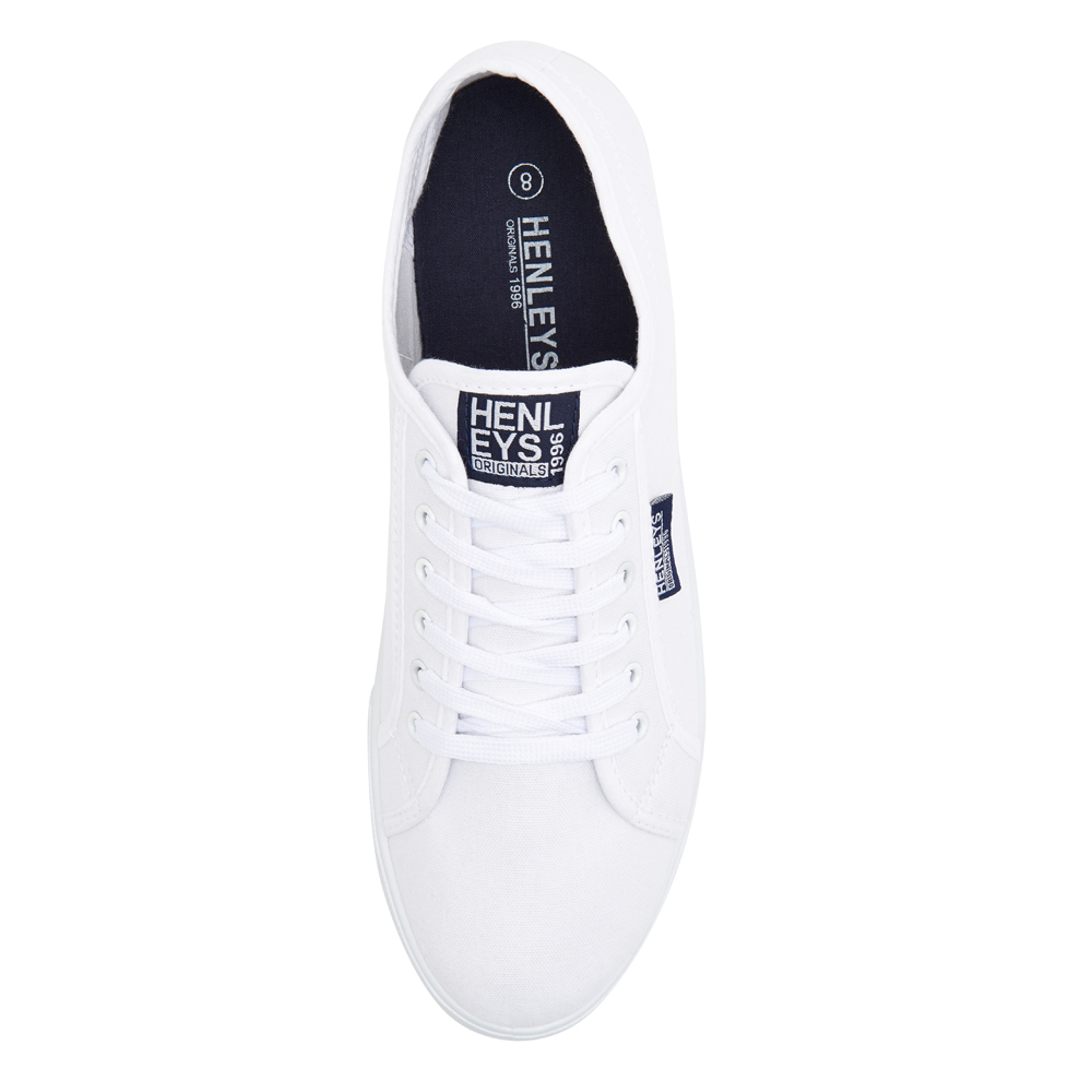 Henleys-Kenyon-Connor-Or-Milo-Mens-Canvas-Shoes-Lace-Up-Plimsole-Casual-Trainers thumbnail 31