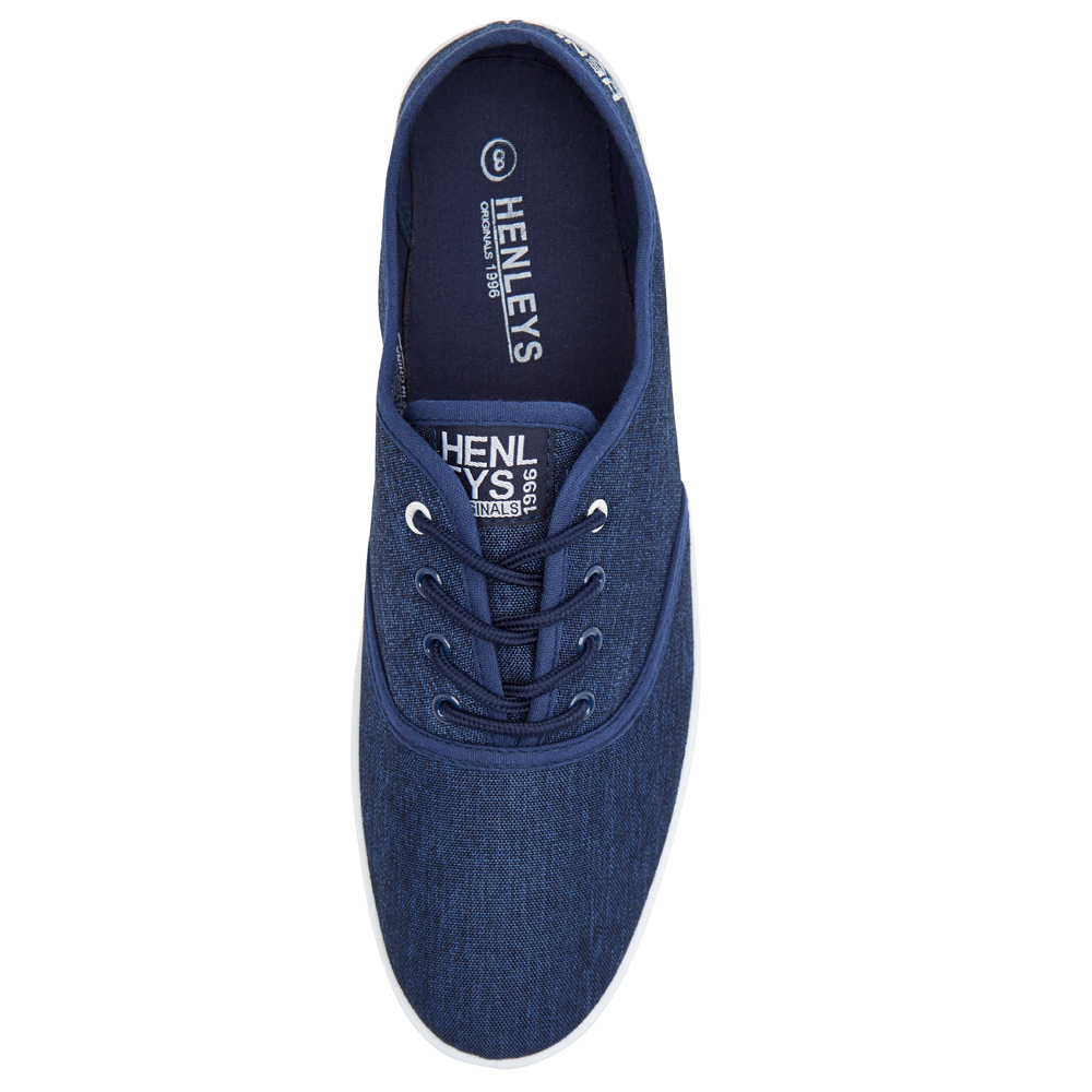 Henleys-Kenyon-Connor-Or-Milo-Mens-Canvas-Shoes-Lace-Up-Plimsole-Casual-Trainers thumbnail 16