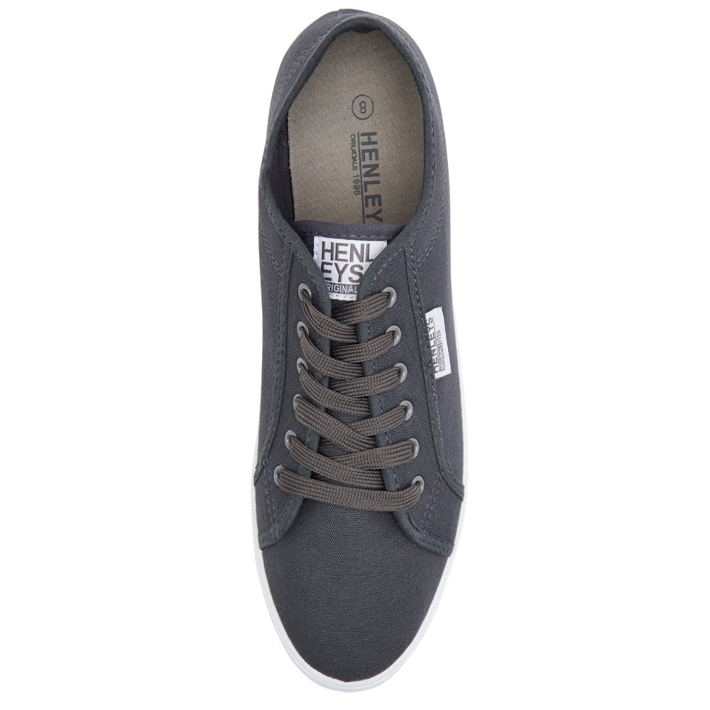 Henleys-Kenyon-Connor-Or-Milo-Mens-Canvas-Shoes-Lace-Up-Plimsole-Casual-Trainers thumbnail 25