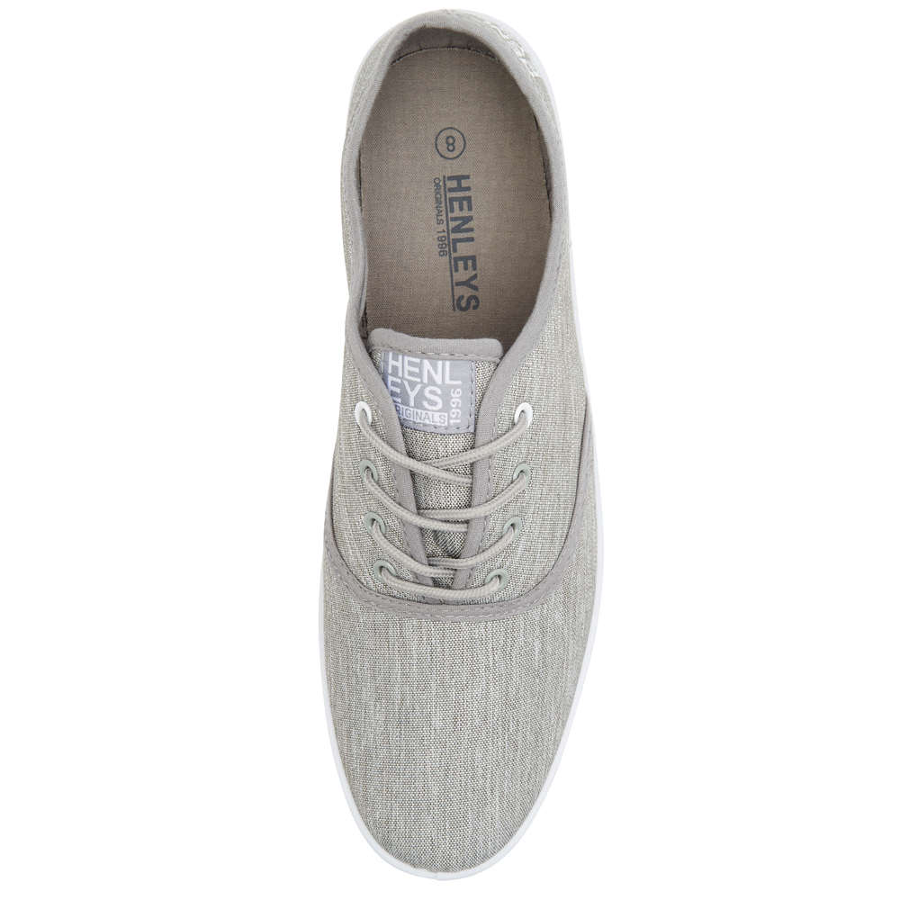 Henleys-Kenyon-Connor-Or-Milo-Mens-Canvas-Shoes-Lace-Up-Plimsole-Casual-Trainers thumbnail 13