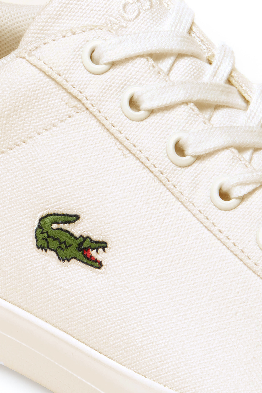 miniature 4 - Lacoste Homme Lerond 219 1 CMA Textile Toile White Baskets Casual Classic Shoes