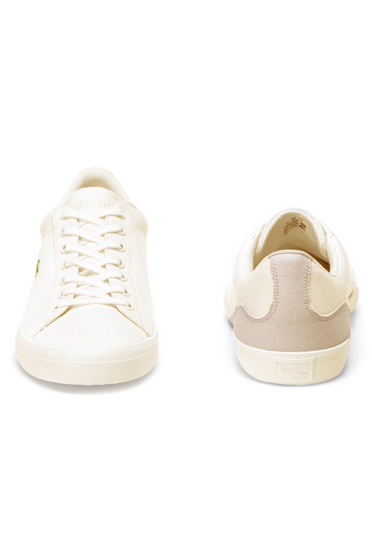 miniature 5 - Lacoste Homme Lerond 219 1 CMA Textile Toile White Baskets Casual Classic Shoes
