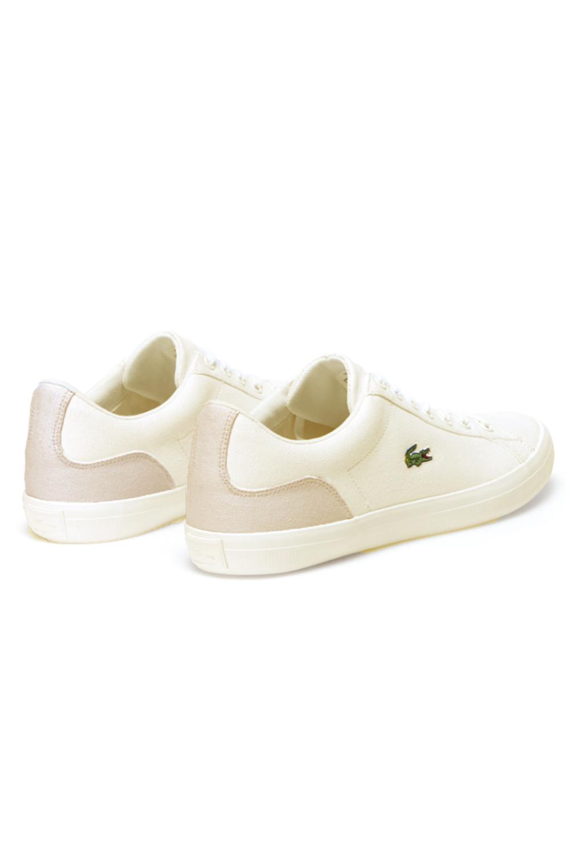 miniature 6 - Lacoste Homme Lerond 219 1 CMA Textile Toile White Baskets Casual Classic Shoes