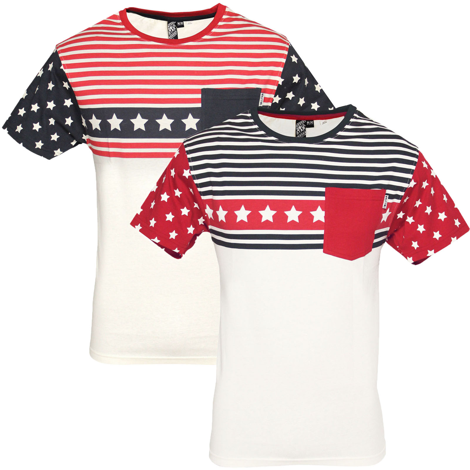 herren t shirt soulstar neu rundhals amerikanische flagge stars streifen usa ebay. Black Bedroom Furniture Sets. Home Design Ideas