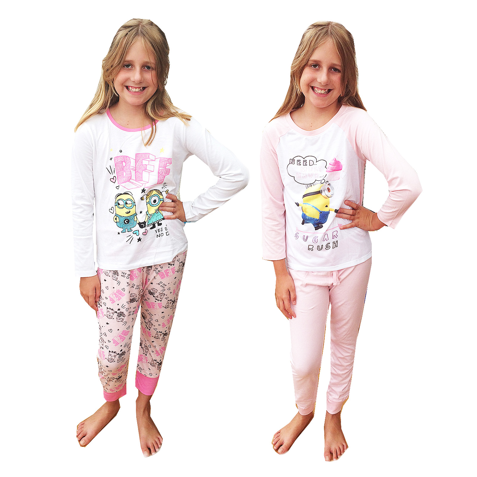 Details about Despicable Me Girls Official Minions Nightwear Kids Sugar  Rush Or BFF Pyjama Set 3f8b2fb90
