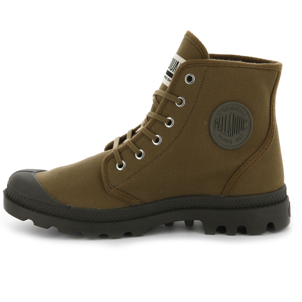 Palladium-Mens-Pampa-High-Orig-Boots-Canvas-Lace-Up-Walking-Hi-Top-Ankle-Shoes thumbnail 9