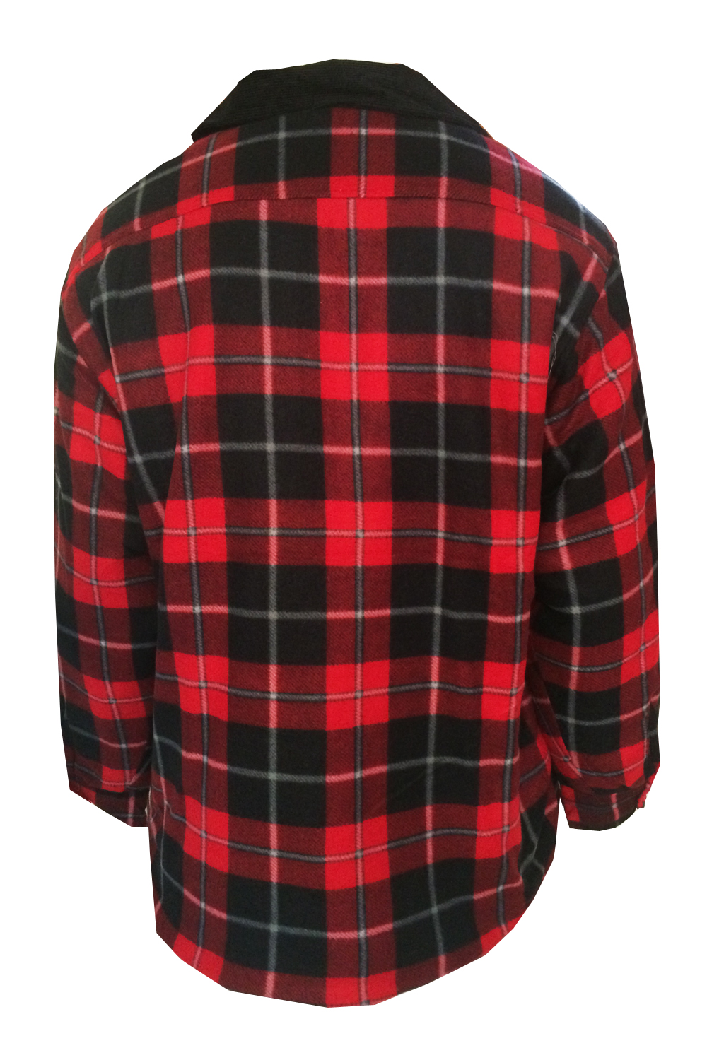 Mens Lumberjack Fleece Jacket Bruno Galli Extra Thick Padded ...