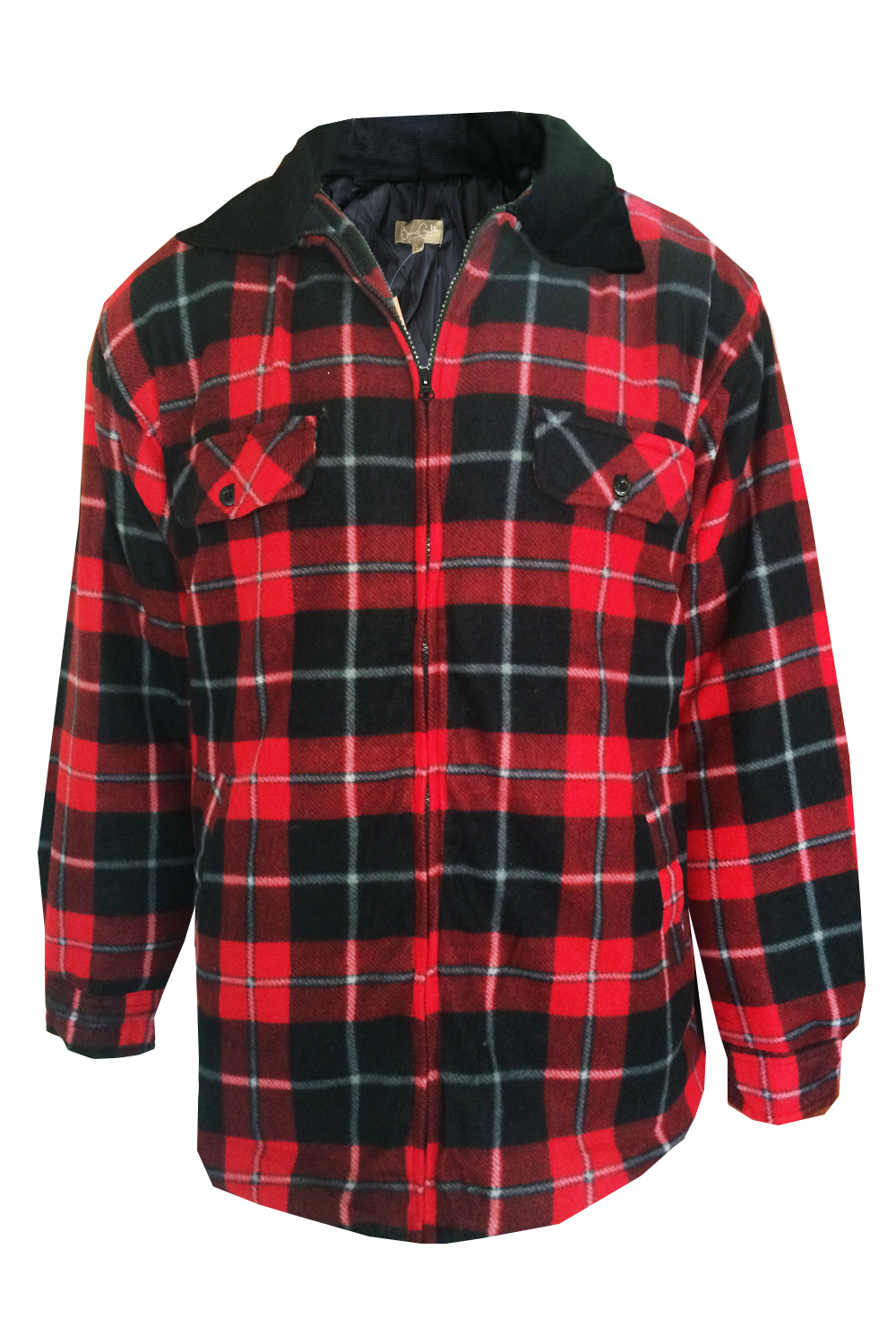 Mens Lumberjack Fleece Jacket Bruno Galli Extra Thick