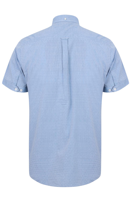 Para-Hombre-Tokyo-Laundry-Herro-Camisa-Manga-Corta-De-Algodon-Estampada-Con-Cuello-Top-Inteligente miniatura 3