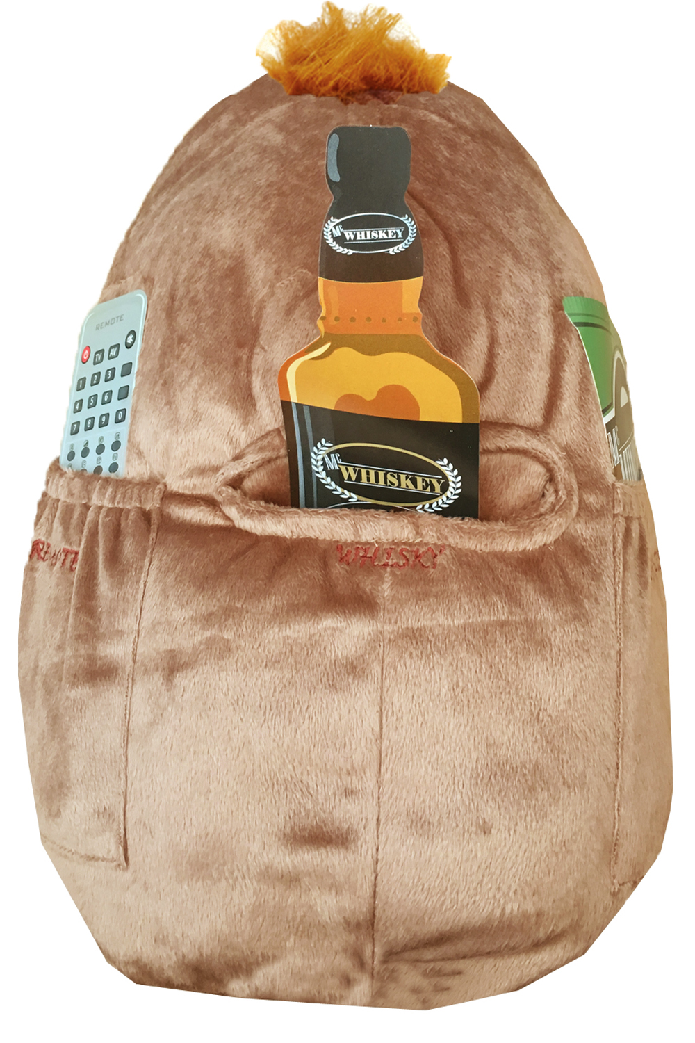 Novelty-Mac-Spuddy-Couch-Potato-Remote-Snack-Holder-Scottish-Pocket-Cushion thumbnail 5