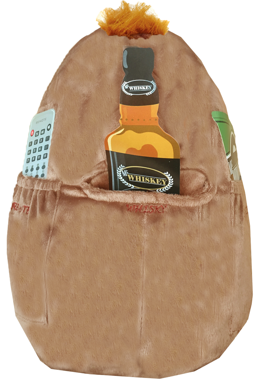 Novelty-Mac-Spuddy-Couch-Potato-Remote-Snack-Holder-Scottish-Pocket-Cushion thumbnail 3