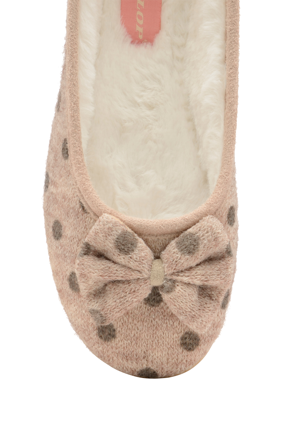 Dunlop Womens Angeline Ballet Slipper Ladies Faux Fur