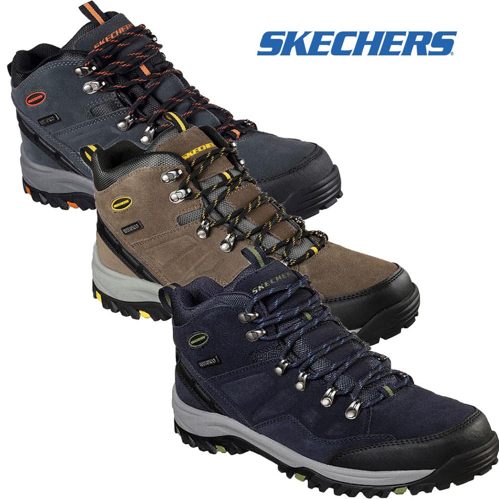 Skechers Relment Pelmo Bottes Homme Marche Sports Lacets