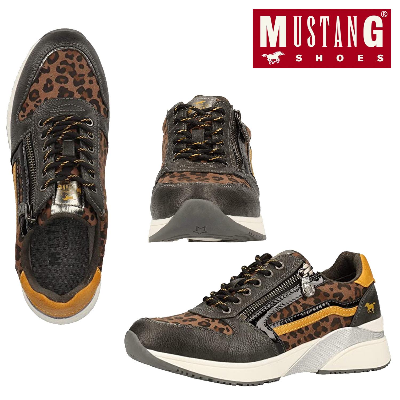 Mustang Womens Low Top Comfort Leopard