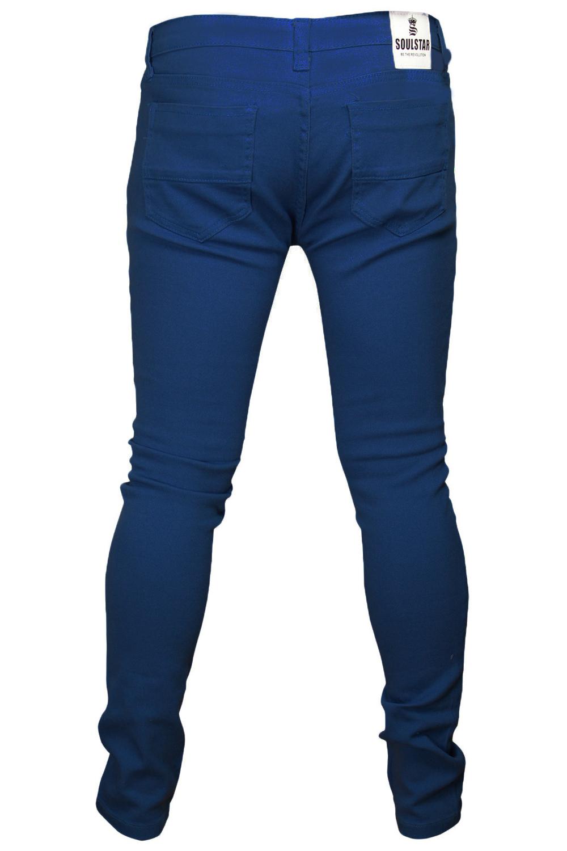 Soul Star Casual da Uomo Skinny Fit Denim Jeans Stretch Pantaloni Pants