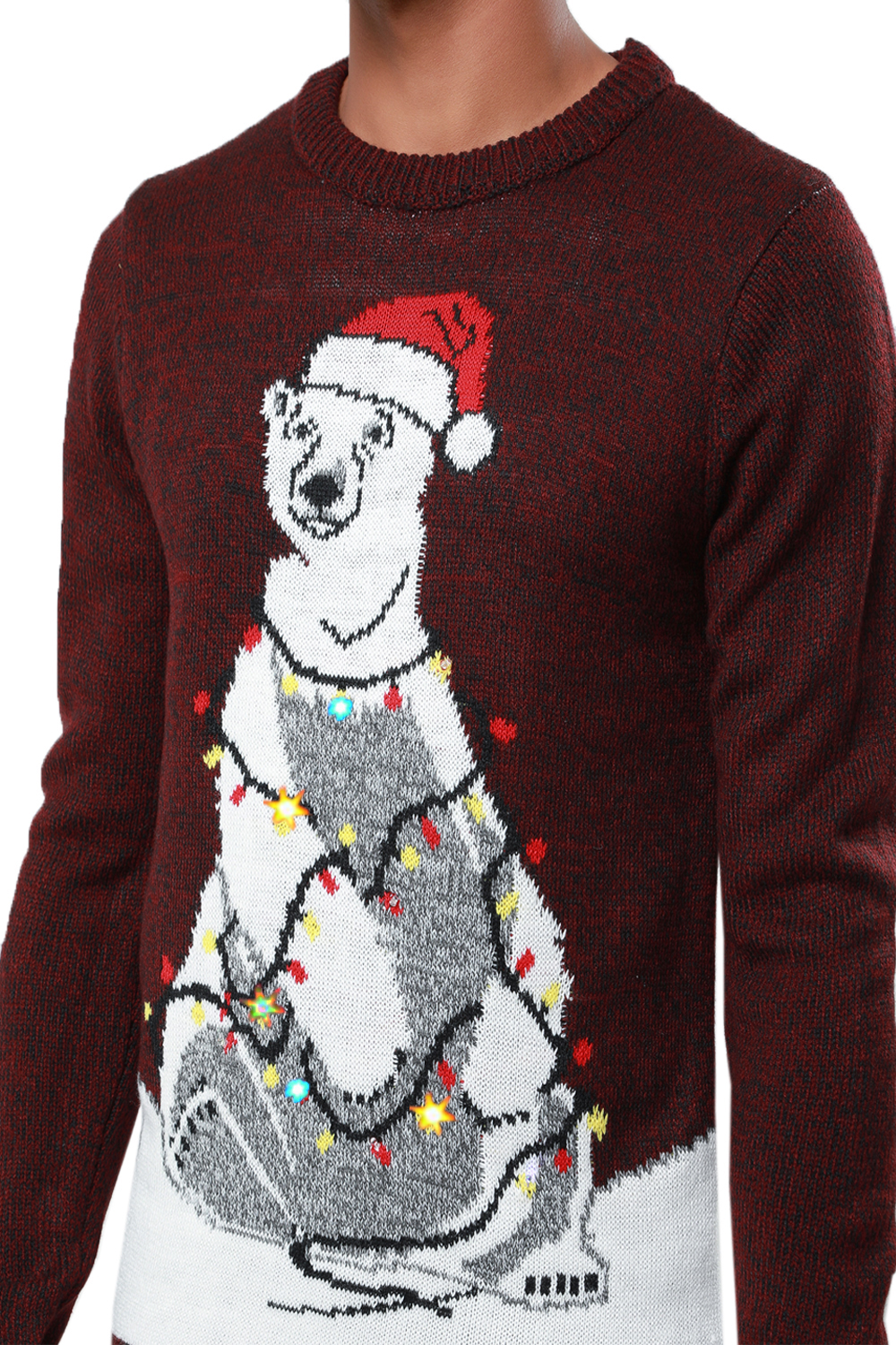 Details About Threadbare Mens Womens Led Light Up 3d Christmas Jumpers Novelty Xmas Sweater