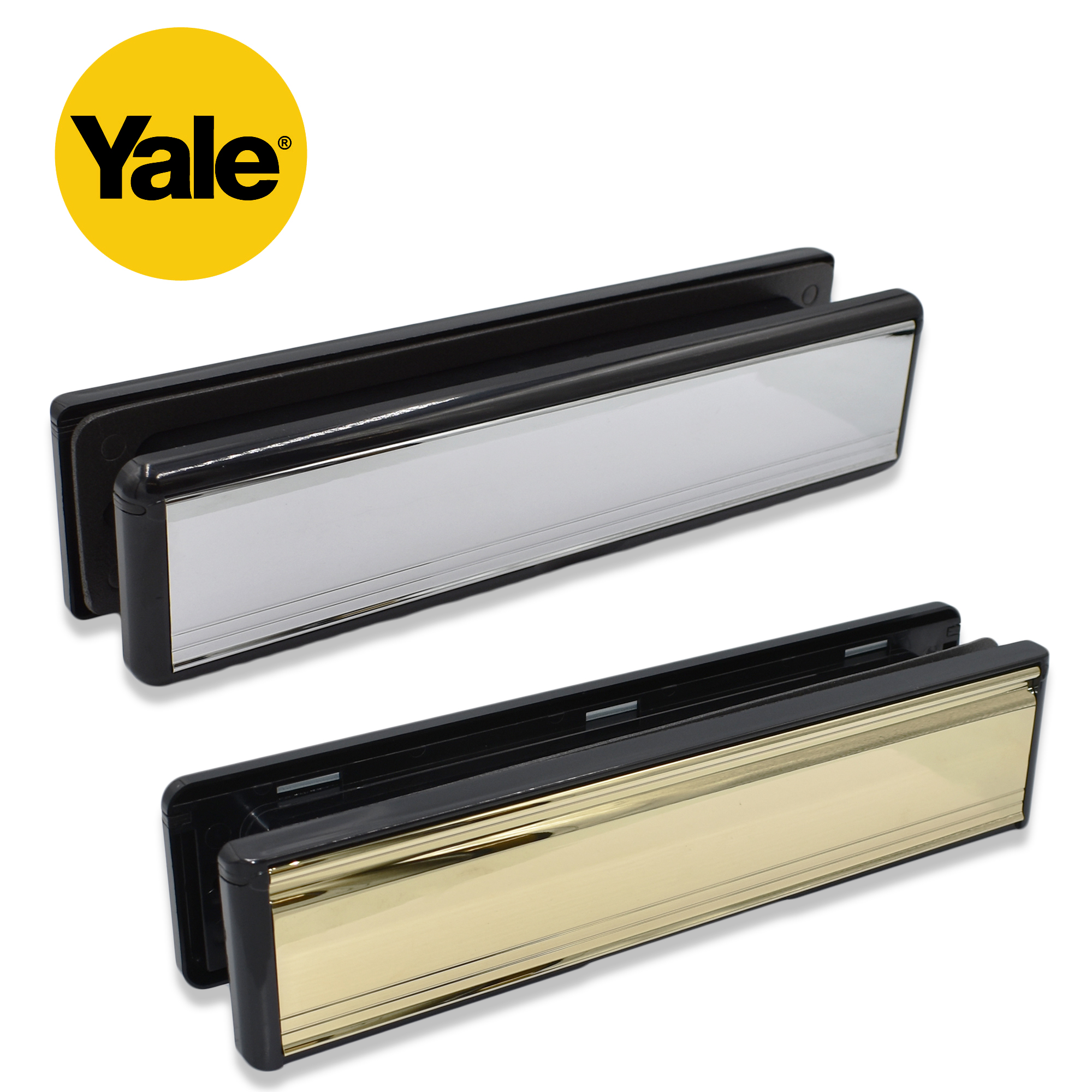 yale 12 u0026quot  letterplates brass chrome letter box cover plate